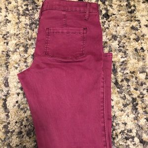 HOLLISTER bright purple skinny jeans